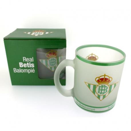 Taza mug cristal del Real Betis.