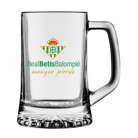 Verre à bière moyenne Real Betis.