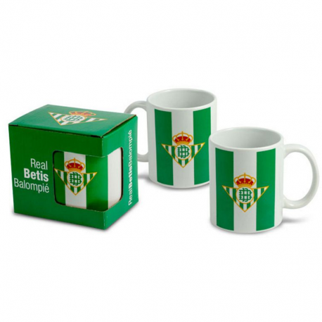 Taza mug porcelana del Real Betis.