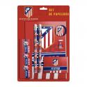 Set papelería del Atlético de Madrid.