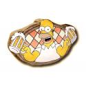 Cojín silueta de terciopelo de Los Simpsons.