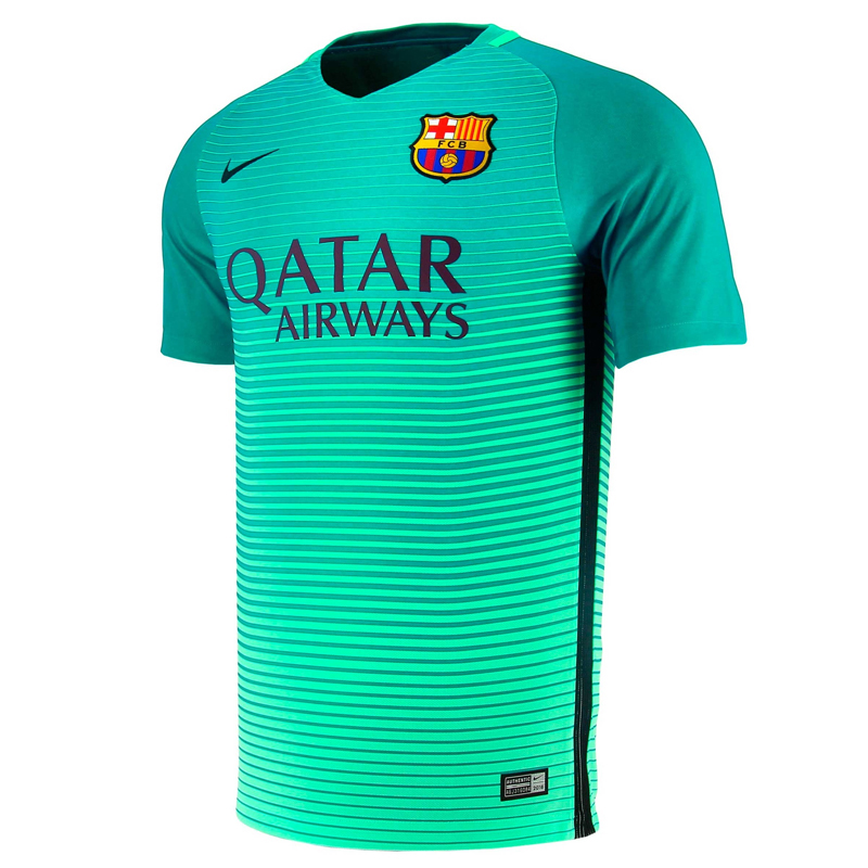Maillot f c barcelona exterieur 2016 17 junior forofos for Maillot barca exterieur