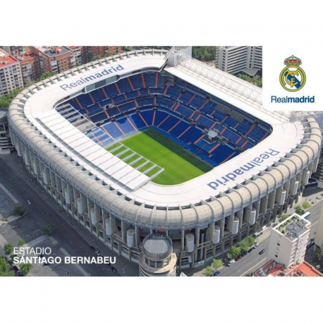 Postal del Santiago Bernabeu del Real Madrid.