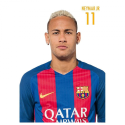 Postal de Neymar del F.C.Barcelona.