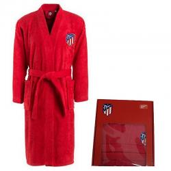 Albornoz para adulto del Atlético de Madrid.