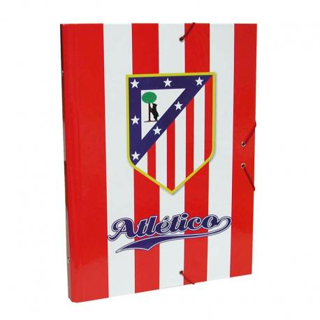 Carpeta con clasificador del Atlético de Madrid.