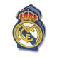 Hucha con candado del Real Madrid.
