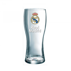 Real Madrid Beer Large glass.