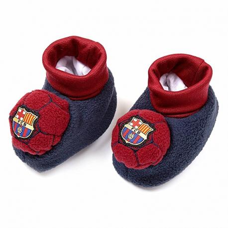 Patucos para bebé del F.C.Barcelona.
