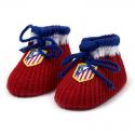 Patucos para bebé del Atlético de Madrid.
