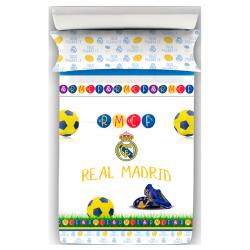 Juego de sábanas de 90 cm. del Real Madrid.