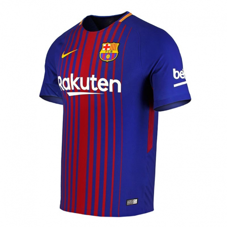 maillot stadium f c barcelona domicile 2017 18. Black Bedroom Furniture Sets. Home Design Ideas
