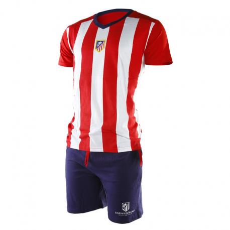 Pijama de adulto de manga corta del Atlético de Madrid.