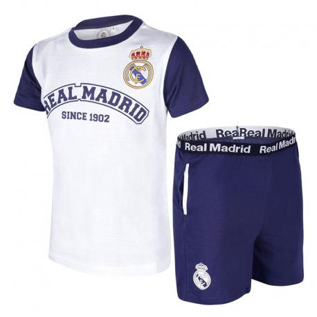 Pijama de adulto de manga corta del Real Madrid.