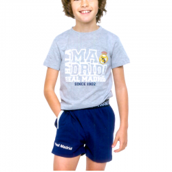 Pyjama junior Real Madrid manches courtes.