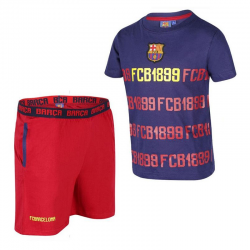 Pyjama adultes F.C.Barcelona manches courtes.