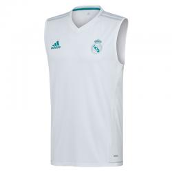 Camiseta entrenamiento sin mangas adulto Real Madrid 2017-18.