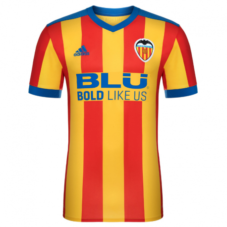 Camiseta oficial 2ª equipación Valencia C.F. 2017-18.