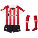 Minikit niños pequeños 1ª equipación Athletic de Bilbao 2017-18.