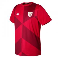 Camiseta de calentamiento adulto Athletic de Bilbao 2017-18.