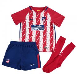 Atlético de Madrid Little Boys Home Kit 2017-18.