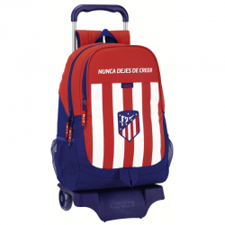Atlético de Madrid Big rucksack with trolley.
