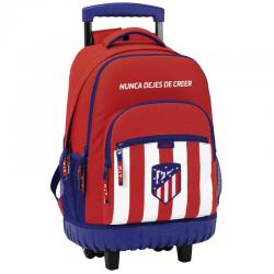 Mochila grande con ruedas compact del Atlético de Madrid.