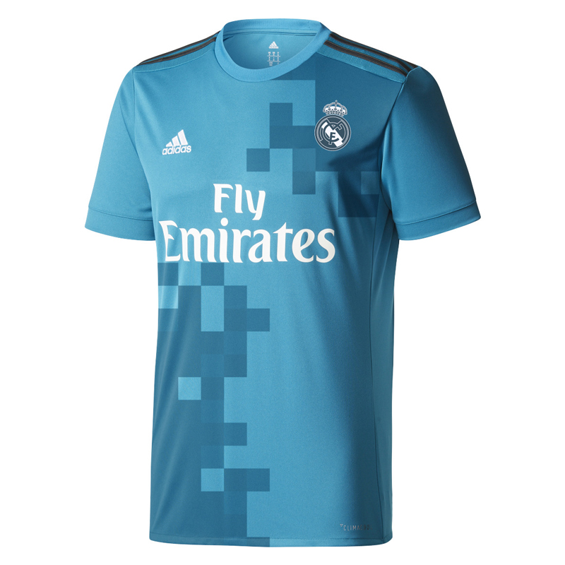 Maillot real madrid exterieur 2017 18 forofos for Maillot exterieur om 2017