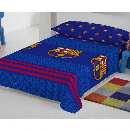 Juego de sábanas 105 cm. del F.C.Barcelona.