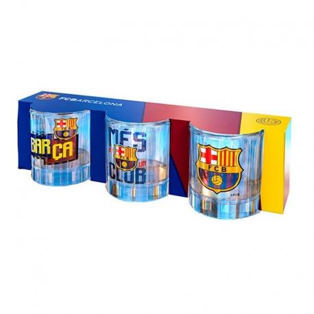 Set de 3 petit verre F.C.Barcelona.