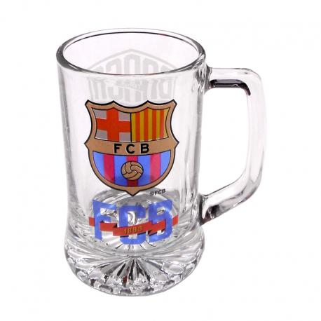 Jarra de cerveza mediana del F.C.Barcelona.