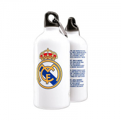 Botella metálica del Real Madrid.