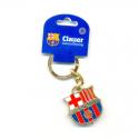 Llavero de metal del F.C.Barcelona.