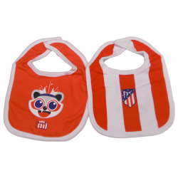 Atlético de Madrid Pack of two baby bibs.