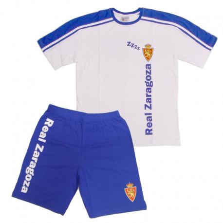 Pijama de adulto de manga corta del Real Zaragoza.