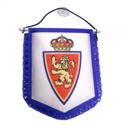Real Zaragoza Car Pennant.