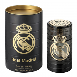 Agua de colonia premium del Real Madrid.