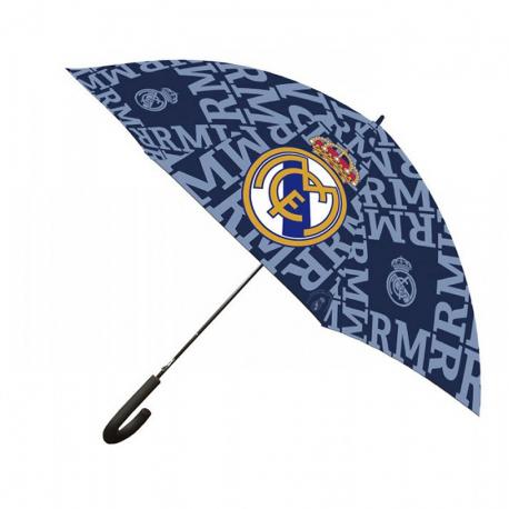 Paraguas cadete del Real Madrid.
