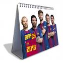 Calendario sobremesa 2018 del F.C.Barcelona.