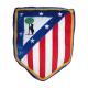 Cojín de terciopelo del Atlético de Madrid.