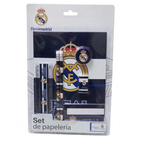 Set papelería del Real Madrid.