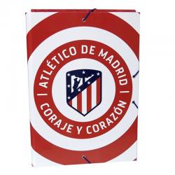 Carpeta de gomas y solapas del Atlético de Madrid.