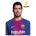 Postal de L. Suarez del F.C.Barcelona.