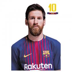 Postal de Messi del F.C.Barcelona.