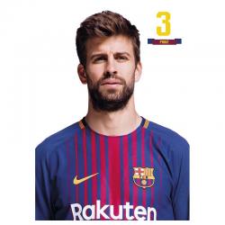 F.C.Barcelona Postal Piqué.