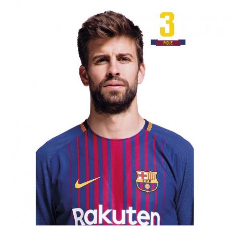 Postal de Piqué del F.C.Barcelona.