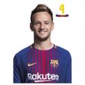 Postal de Rakitic del F.C.Barcelona.