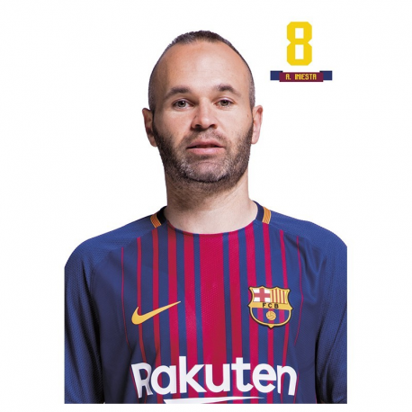 Postal de Iniesta del F.C.Barcelona.