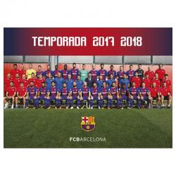 Carte postale équipe F.C.Barcelona.