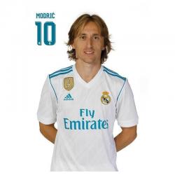 Postal de Modric del Real Madrid.